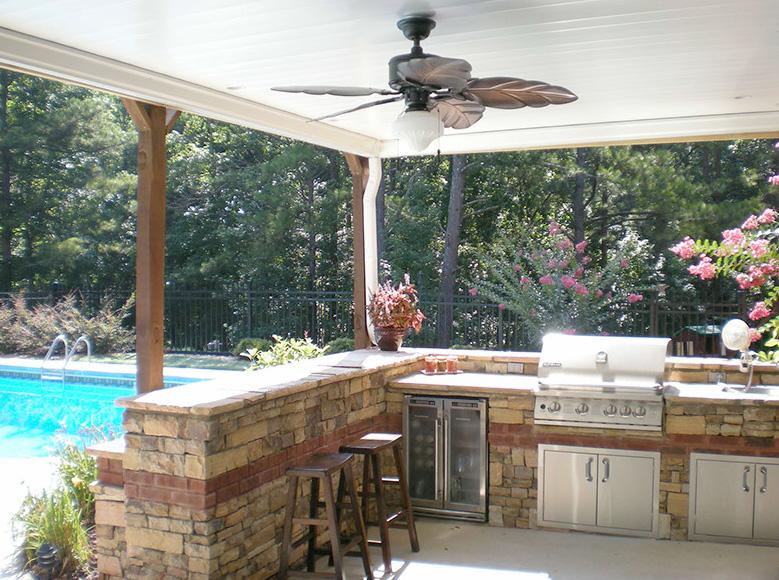 rainaway outdoor kitchen