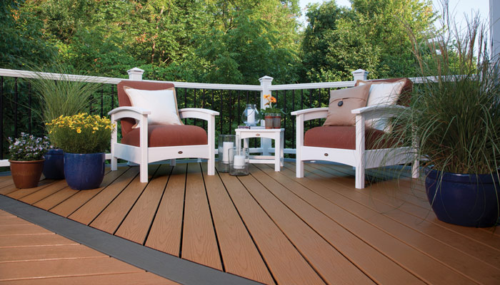 Composite decks pros and cons rainaway under deck systems for Pros and cons of composite decking